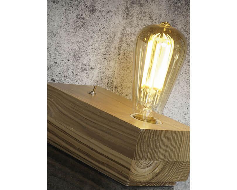 STOLNÍ LAMPA KOBE OBDÉLNÍK PŘÍRODNÍ