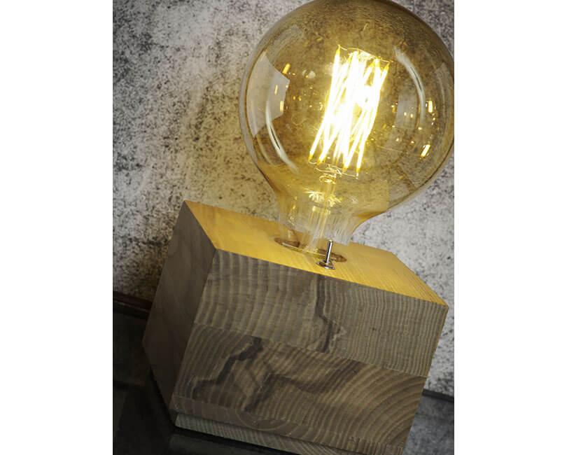 STOLNÍ LAMPA KOBE ČTVEREC PŘÍRODNÍ