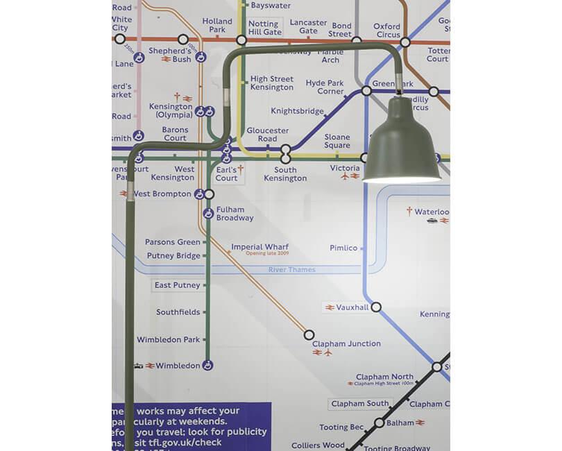 STOJÍCÍ LAMPA LONDON OLIVOVÁ