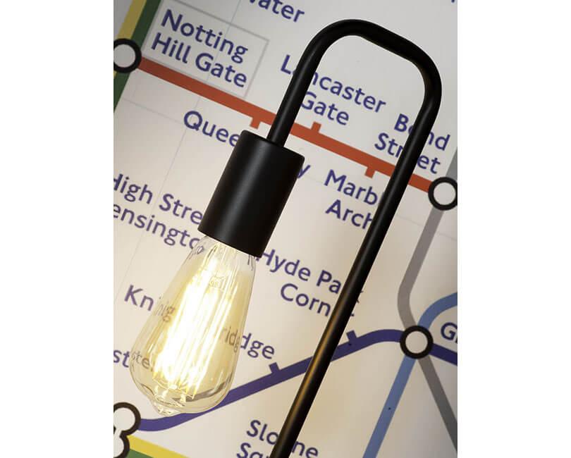 STOLNÍ LAMPA LONDON ČERNÁ