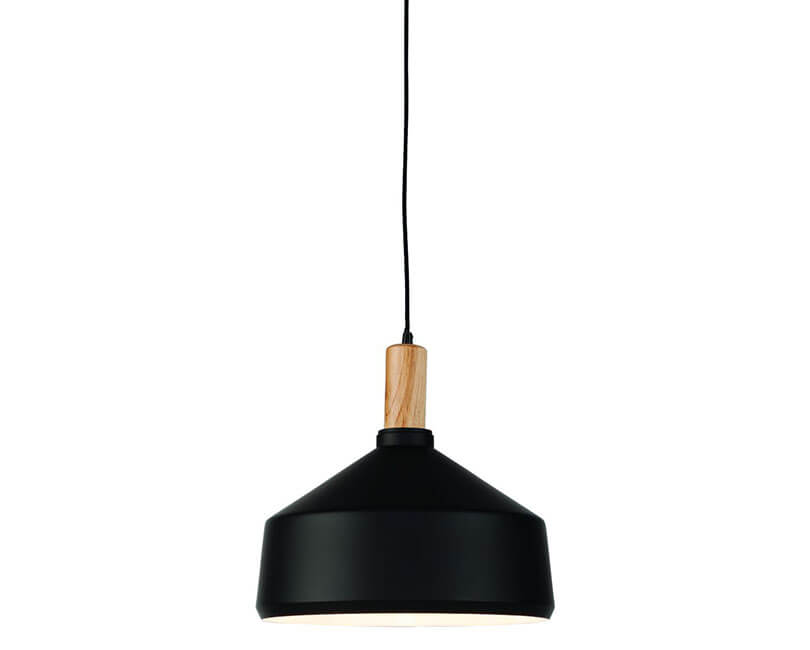 STROPNÍ LAMPA MELBOURNE L ČERNÁ