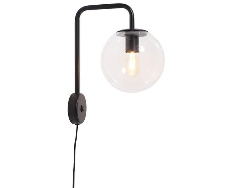 NÁSTĚNNÁ LAMPA WARSAW ČERNÁ