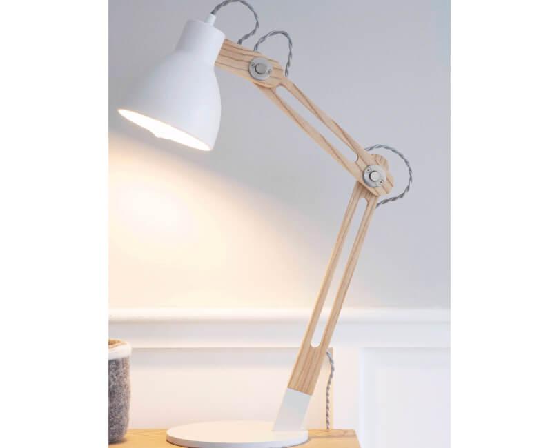 STOLNÍ LAMPA ELDER BÍLÁ