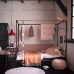 Postel bunk 90x200 cm