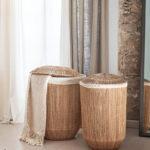 Jutová sada 2 košů na prádlo Silabitse přírodní