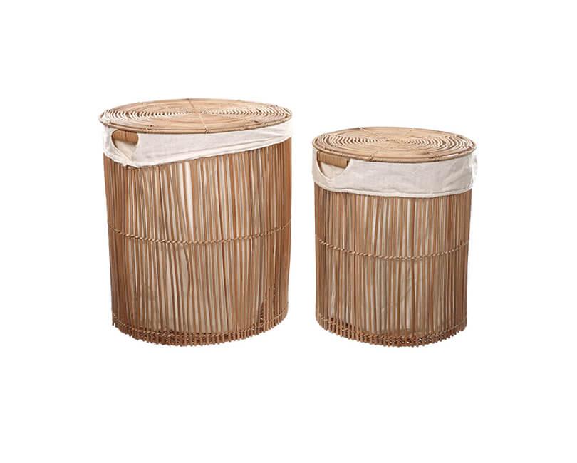 Ratanová sada 2 košů na prádlo Nirodaid
