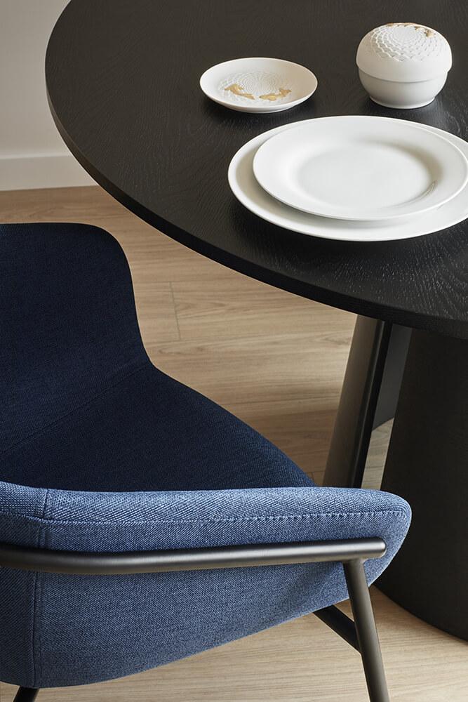 Jídelní židle hug modrá